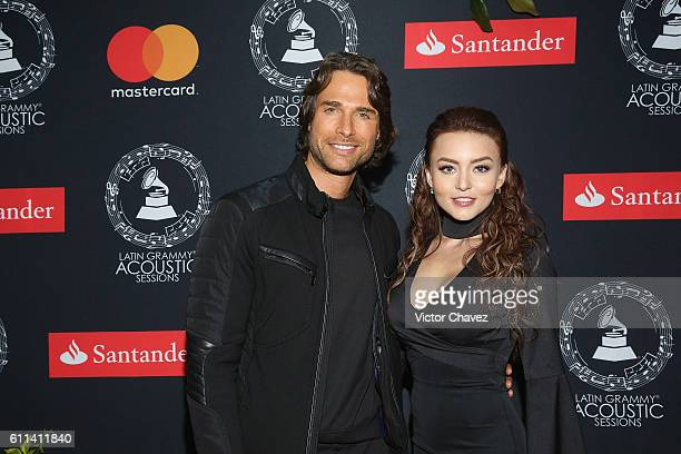 Sebastian Rulli and Angelique Boyer attend the Latin Grammy Acoustic Sessions Mexico City 2016 at Casa Del Lago Chapultepec on September 28 2016 in...