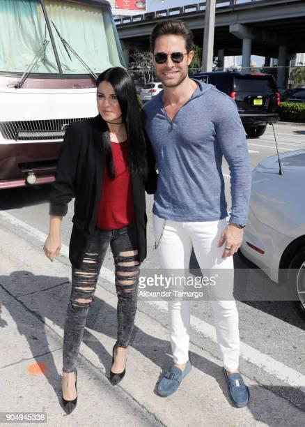 Sebastian Rulli and Maite Perroni are seen at the 2018 Three Kings Day Parade on January 14 2018 in Miami Florida