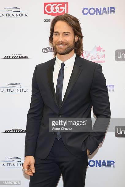 Sebastian Rulli arrives at Premios TV y Novelas 2015 at Televisa San Angel on March 9 2015 in Mexico City Mexico