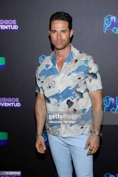 Sebastian Rulli attends Premios Juventud 2019 at Watsco Center on July 18 2019 in Coral Gables Florida
