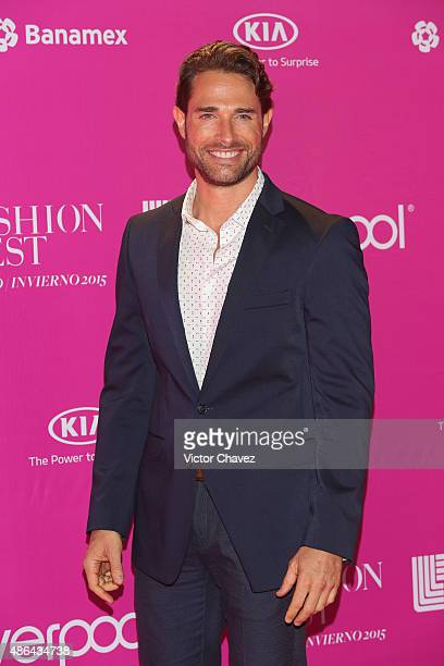 Sebastian Rulli attends the Liverpool Fashion Fest Autumn/Winter 2015 at Televisa San Angel on September 3 2015 in Mexico City Mexico