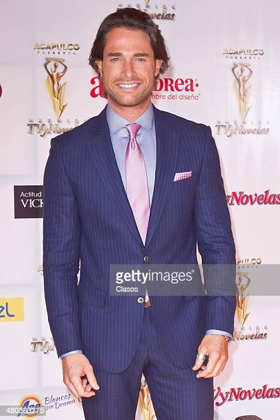 Sebastian Rulli during TV y Novelas Red Carpet at Televisa on March 23 2014 in Mexico City Mexico