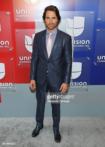 Sebastian Rulli is seen arriving at Univision's UpFront 2016 at Gotham Hall on May 17 2016 in New York New York