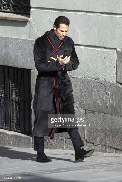Sebastian Rulli is seen during the set filming of 'El Ultimo Dragon' on November 27 2018 in Madrid Spain