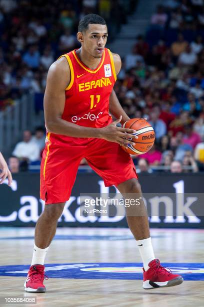 Sebastian Saiz of Spain during the FIBA Basketball World Cup Qualifier match Spain against Latvia at Wizink Center in Madrid Spain September 17 2018