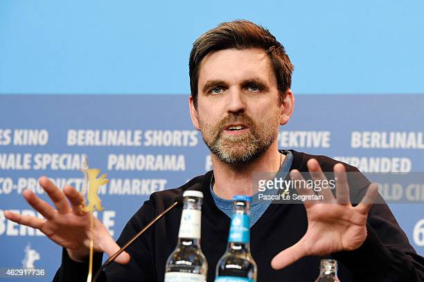 Sebastian Schipper attends the 'Victoria' press conference during the 65th Berlinale International Film Festival at Grand Hyatt Hotel on February 7...