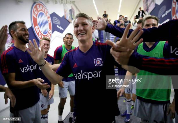Sebastian Schweinsteiger of Chicago is seen in the player's tunnel before the Friendly Match between FC Bayern Muenchen and Chicago Fire at Allianz...