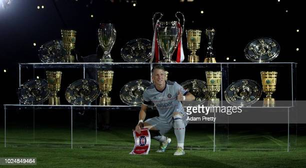 Sebastian Schweinsteiger of Chicago poses for a photo before the Friendly Match between FC Bayern Muenchen and Chicago Fire at Allianz Arena on...