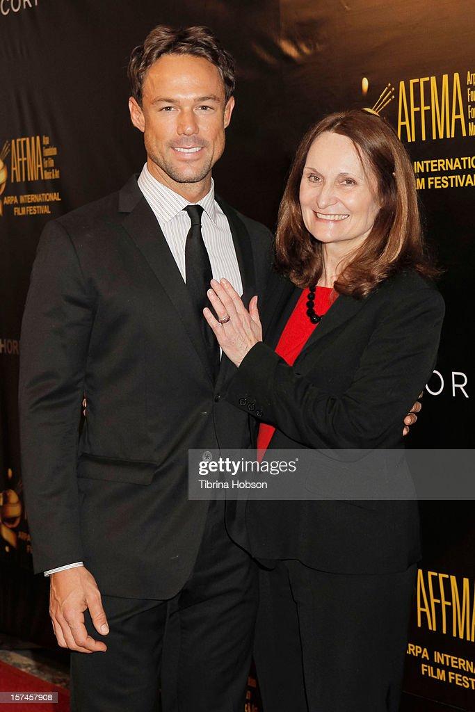 Sebastian Siegel and Beth Grant attend the Arpa International Film Festival closing night gala at Sheraton Hotel on December 2, 2012 in Universal City, California.