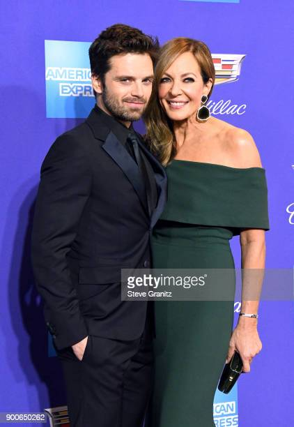 Sebastian Stan and Allison Janney attend the 29th Annual Palm Springs International Film Festival Awards Gala at Palm Springs Convention Center on...