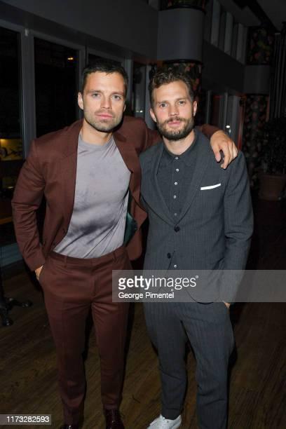 "Sebastian Stan and Jamie Dornan attend HUGO BOSS Presents ""Endings, Beginnings"" Post TIFF Premiere Cocktail Party at Montecito Restaurant on..."