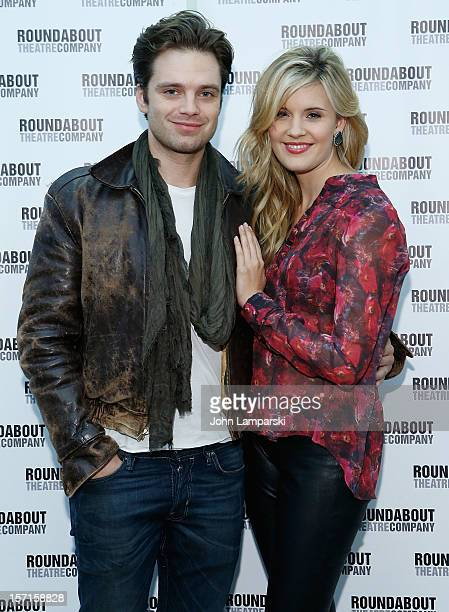 Sebastian Stan and Maggie Grace attend 'Picnic' Cast Photo Call on November 29 2012 in New York City