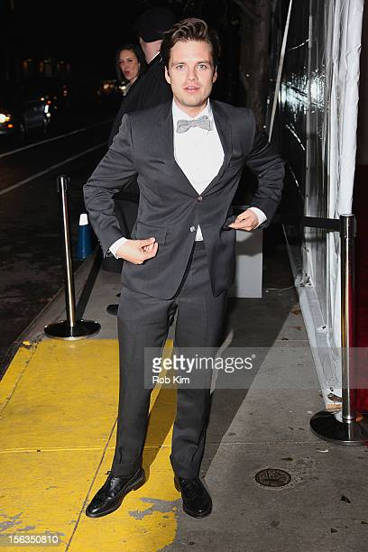 Sebastian Stan arrives at The Ninth Annual CFDA/Vogue Fashion Fund Awards at 548 West 22nd Street on November 13 2012 in New York City