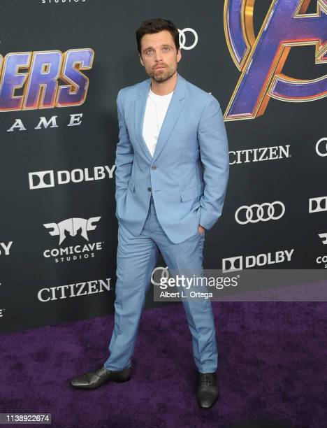 Sebastian Stan arrives for the World Premiere Of Walt Disney Studios Motion Pictures Avengers Endgame held at Los Angeles Convention Center on April...