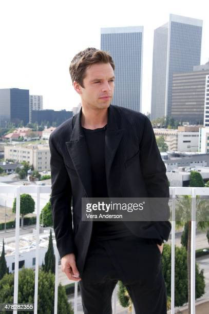 Sebastian Stan at the 'Captain America The Winter Soldier' Press Conference at the Four Seasons Hotel on March 11 2014 in Beverly Hills City