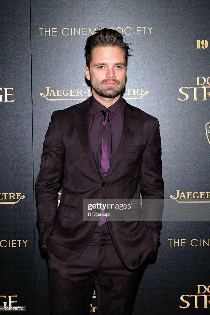Sebastian Stan attends a screening of Marvel Studios' 'Doctor Strange', hosted by Lamborghini with The Cinema Society, Jaeger-LeCoultre, and 19 Crimes Wines, at AMC Empire on November 1, 2016 in New York City.