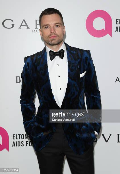 Sebastian Stan attends Elton John AIDS Foundation 26th Annual Academy Awards Viewing Party at The City of West Hollywood Park on March 4 2018 in Los...