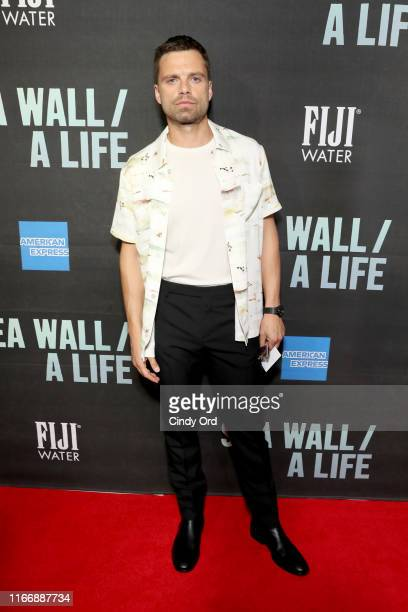 Sebastian Stan attends FIJI Water At Sea Wall / A Life Opening Night On Broadway on August 08 2019 in New York City