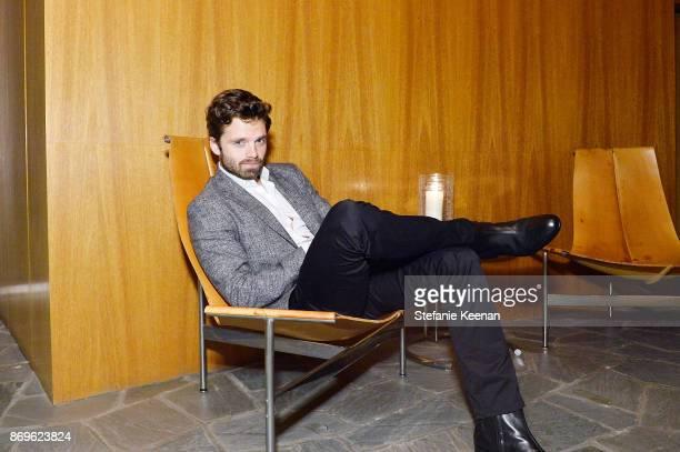 Sebastian Stan attends GQ Style Hugo Boss celebrate Amazing Spaces with Edgar Ramirez at John Lautner's Harvey House on November 2 2017 in Los...