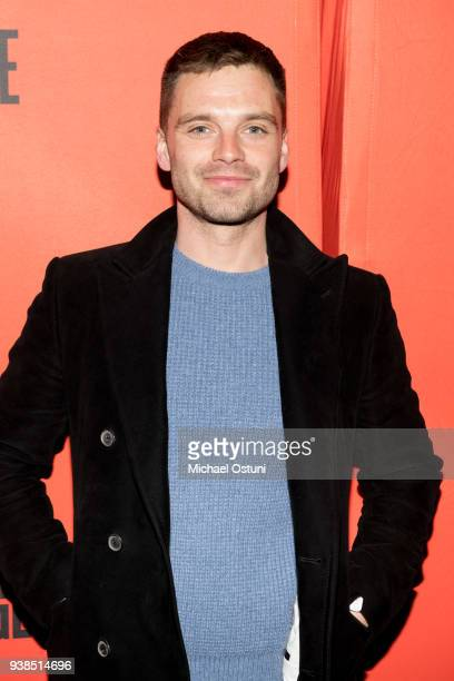 Sebastian Stan attends Lobby Hero Broadway opening night at Hayes Theater on March 26 2018 in New York City