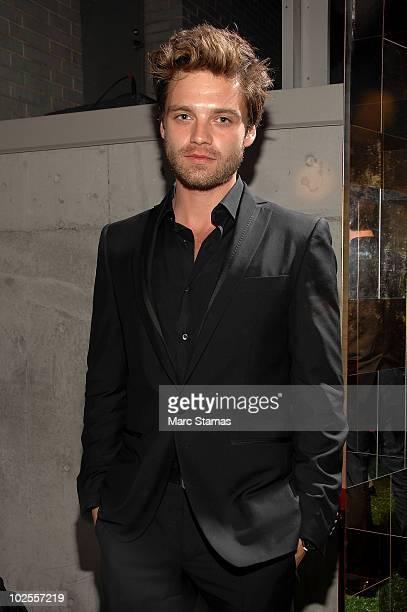 Sebastian Stan attends Salvatore Ferragamo's 'Attimo' fragrance launch party at The Standard on June 30 2010 in New York City