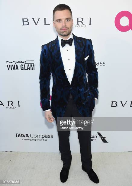 Sebastian Stan attends the 26th annual Elton John AIDS Foundation Academy Awards Viewing Party sponsored by Bulgari celebrating EJAF and the 90th...