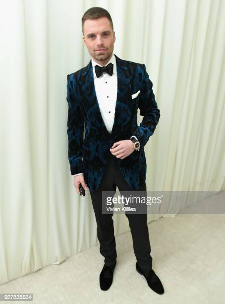 Sebastian Stan attends the 26th annual Elton John AIDS Foundation Academy Awards Viewing Party with cocktails by Clase Azul Tequila at The City of...