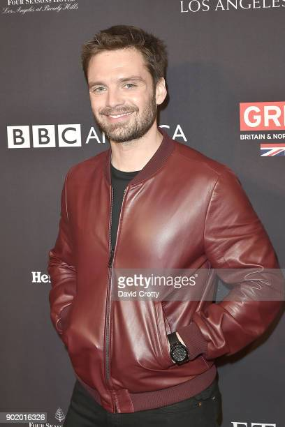 Sebastian Stan attends The BAFTA Los Angeles Tea Party Arrivals at Four Seasons Hotel Los Angeles at Beverly Hills on January 6 2018 in Los Angeles...