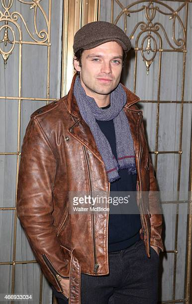 Sebastian Stan attends the Broadway Opening Night performance of 'The Heidi Chronicles' at The Music Box Theatre on March 19 2015 in New York City