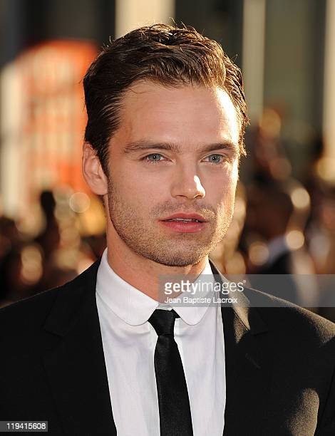 Sebastian Stan attends the 'Captain America The First Avenger' Los Angeles Premiere at the El Capitan Theatre on July 19 2011 in Hollywood California