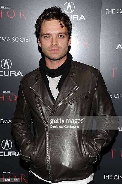 Sebastian Stan attends The Cinema Society Acura screening of 'Thor' at the AMC Loews 19th Street East 6 theater on April 28 2011 in New York City