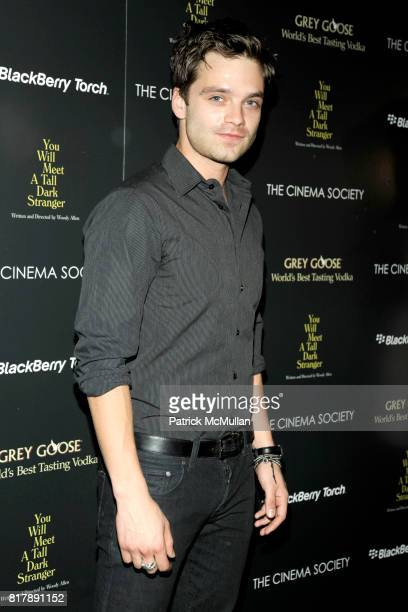 Sebastian Stan attends THE CINEMA SOCIETY BLACKBERRY TORCH host a screening of 'YOU WILL MEET A TALL DARK STRANGER' at The Museum of Modern Art on...