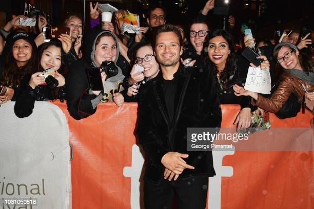 Sebastian Stan attends the Destroyer premiere during 2018 Toronto International Film Festival at Winter Garden Theatre on September 10 2018 in...