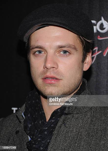 Sebastian Stan attends the Gato Negro Films The Cinema Society screening of 'Hotel Noir' at Crosby Street Hotel on November 9 2012 in New York City