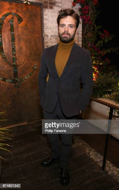 Sebastian Stan attends the HFPA's and InStyle's Celebration of the 2018 Golden Globe Awards Season and the Unveiling of the Golden Globe Ambassador...