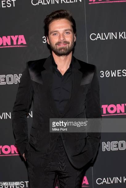 Sebastian Stan attends the 'I Tonya' New York premiere at Village East Cinema on November 28 2017 in New York City