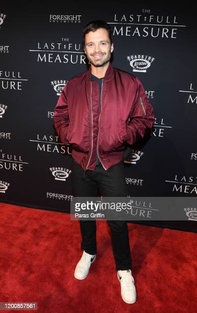 Sebastian Stan attends The Last Full Measure Atlanta red carpet screening at SCADshow on January 20 2020 in Atlanta Georgia
