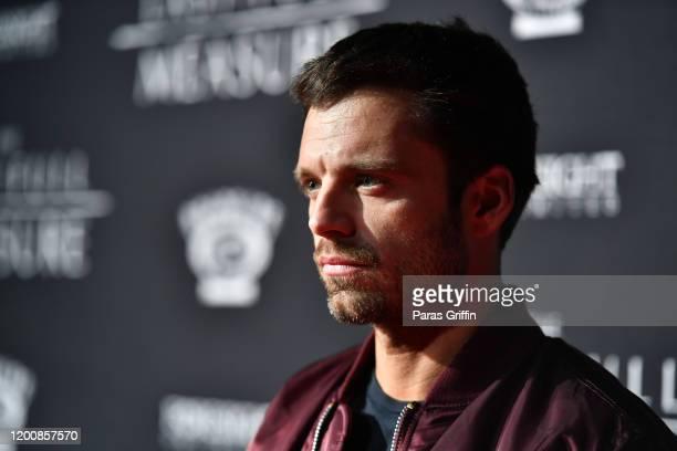 "Sebastian Stan attends ""The Last Full Measure"" Atlanta red carpet screening at SCADshow on January 20, 2020 in Atlanta, Georgia."