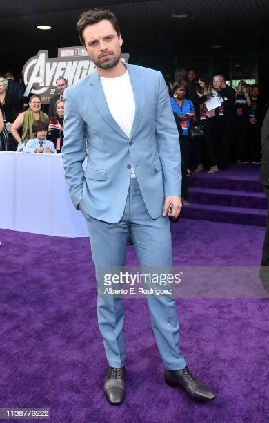 Sebastian Stan attends the Los Angeles World Premiere of Marvel Studios' Avengers Endgame at the Los Angeles Convention Center on April 23 2019 in...