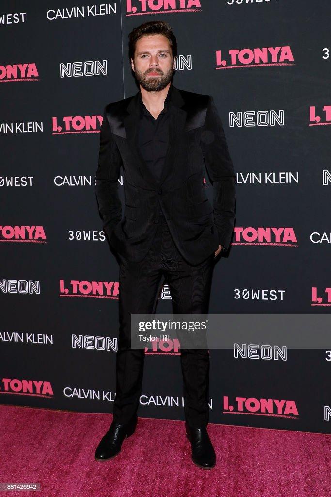 Sebastian Stan attends the New York screening of 'I, Tonya' at Village East Cinema on November 28, 2017 in New York City.