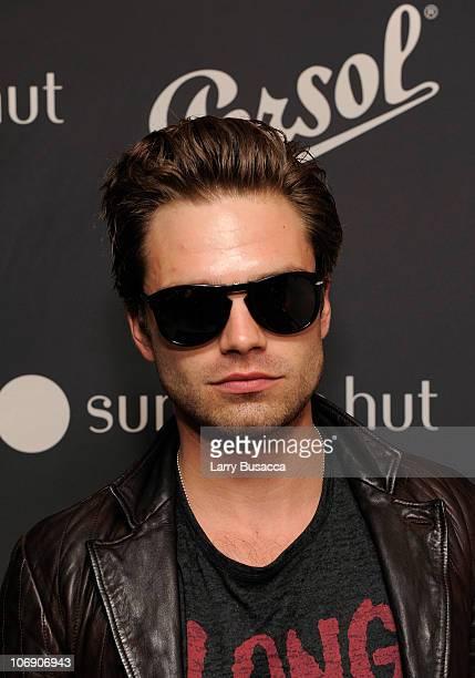 f40396e676 Sebastian Stan attends the Persol Sunglass Hut special edition of 714 Steve  McQueen sunglasses at Sunglass