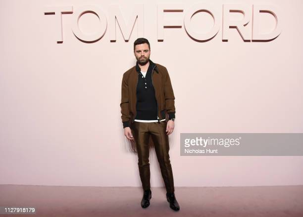 Sebastian Stan attends the Tom Ford FW 2019 Arrivals during New York Fashion Week The Shows on February 06 2019 in New York City