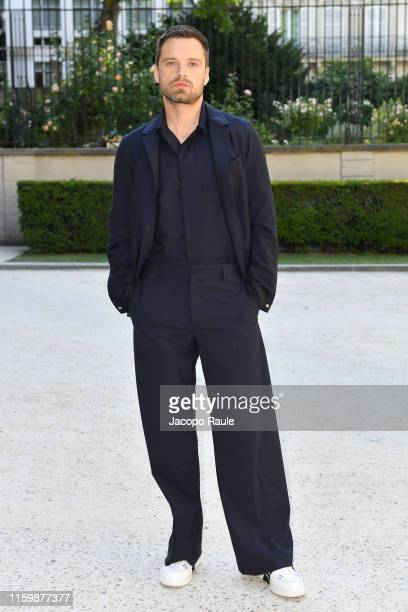 Sebastian Stan attends the Valentino Haute Couture Fall/Winter 2019 2020 show as part of Paris Fashion Week on July 03 2019 in Paris France