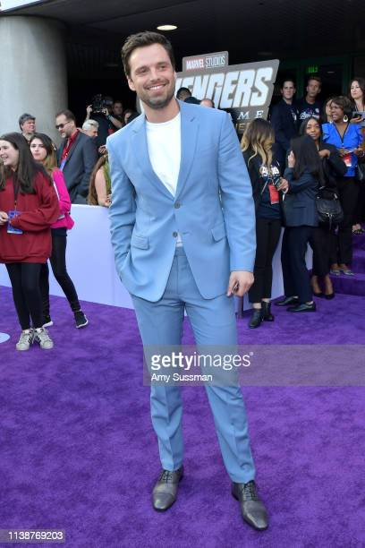 Sebastian Stan attends the world premiere of Walt Disney Studios Motion Pictures Avengers Endgame at the Los Angeles Convention Center on April 22...