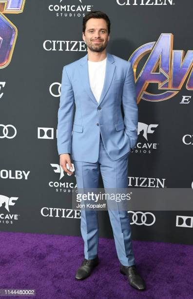 Sebastian Stan attends the World Premiere Of Walt Disney Studios Motion Pictures Avengers Endgame at Los Angeles Convention Center on April 22 2019...