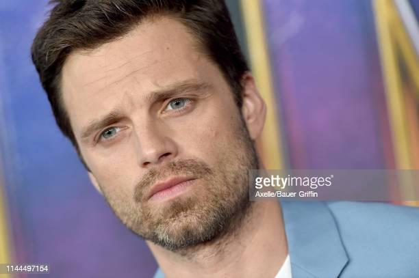 Sebastian Stan attends the World Premiere of Walt Disney Studios Motion Pictures 'Avengers: Endgame' at Los Angeles Convention Center on April 22,...