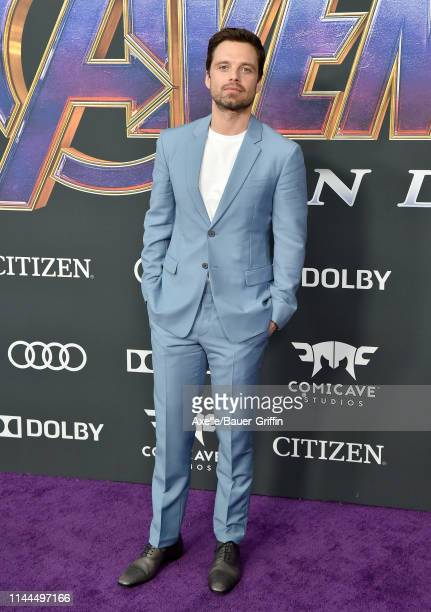 Sebastian Stan attends the World Premiere of Walt Disney Studios Motion Pictures 'Avengers Endgame' at Los Angeles Convention Center on April 22 2019...