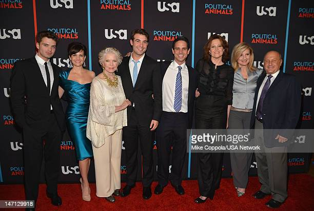 Sebastian Stan Carla Gugino Ellen Burstyn James Wolk Greg Berlanti Sigourney Weaver Arianna Huffington and Laurence Mark of 'Political Animals'...