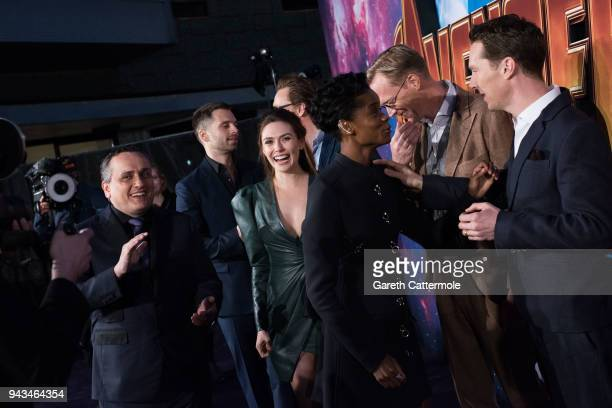 Sebastian Stan Elizabeth Olsen Letitia Wright Paul Bettany and Benedict Cumberbatch attend the UK Fan Event to celebrate the release of Marvel...