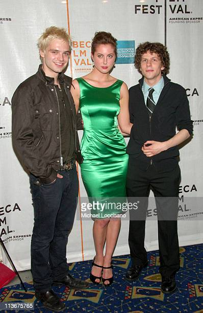 Sebastian Stan Eva Amurri and Jesse Eisenberg during 6th Annual Tribeca Film Festival The Education of Charlie Banks Premiere at Chelsea Clearview...